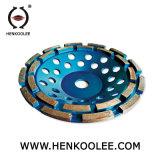 Паяемое колесо чашки двойника диаманта для бетона
