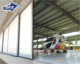 既製の現代プレハブの建物の金属スペースフレームの鉄骨構造の航空機の格納庫