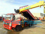 4X2油圧トラッククレーンが付いている軽いダンプトラック