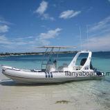 Liya 20FT melhor barcos infláveis rígidos costela de barcos de patrulha