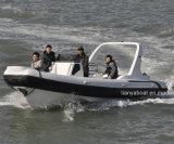Barco inflable de Hypalon de los barcos de lujo de la costilla de Liya en el yate China