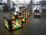 Luz de sinal do tráfego do controle da pista da estação do pedágio
