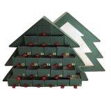 Contenitore di regalo dell'imballaggio della caramella del documento di figura dell'albero di Natale di alta qualità