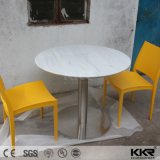 Tabela e cadeira superiores de mármore de pedra artificiais modernas de jantar