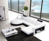 Mobília de couro pura 8052# do sofá da sala de visitas do projeto de Europa
