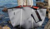 A mistura colore o saco de Tote grande dos bens o super do saco de Tote do neopreno da qualidade com uma máquina impermeável do Zipper da bolsa Washable