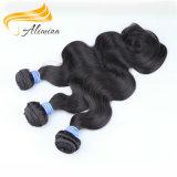 卸し売りインドの毛のWeft深い波のインドのRemyの毛のよこ糸