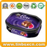 Estanho do chocolate do Octagon do produto comestível para a caixa de empacotamento do presente do festival
