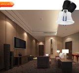 Vertieftes LED-PFEILER justierbares Aluminium 12W 15W Downlight
