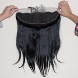 Frontal шнурка 13X4 бразильских человеческих волос прямой с волосами младенца