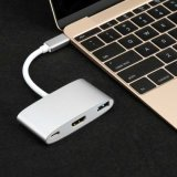 Support 4K Resolutions USB3.1 Type-C to HDMI+USB 3.0+Type-C Hub To adapt