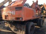 Japón hizo rueda de segunda mano el tipo móvil excavador de Hitachi Ex160wd