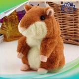 크리스마스 승진 선물을%s 귀여운 말하는 햄스터 말하는 말하는 소리 기록적인 햄스터 견면 벨벳 아기 장난감