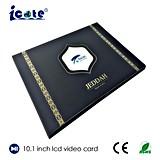 Карточка LCD 10.1 дюймов видео- с размером A4 для дела