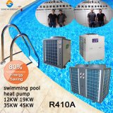 O termostato 30graus. C para medidor de cubos 20~300exterior 12kw/19kw/35kw/70kw/105kw Cop Sunchi4.62 R410uma bomba de calor do aquecedor de Piscina