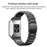 Metálica de acero inoxidable Ver accesorios para Fitbit banda iónica