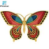 Mayorista de la fábrica de metal esmaltado personalizado insignia pasador mariposa