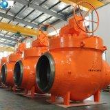 鋳造物鋼鉄Wcb Lcb Lccのフランジトラニオンによって取付けられる上エントリ球弁の製造業者