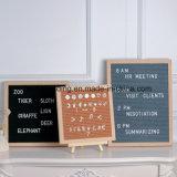 Panneau blanc helvetica de lettres de bâti en bois