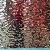 Rivestimento martellato dello strato dell'acciaio inossidabile della lamina di metallo per il sistema della parete