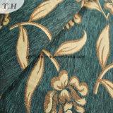 Grünes Tuch-goldenes Jacquardwebstuhl-Chenille-hochwertiges Gewebe (FTH31225)