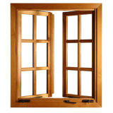 Superhouse materiales de construcción metálica de aluminio doble vidrio Casement Window