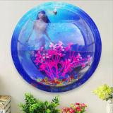 Aquário Home do tanque de peixes da bacia da bolha da montagem da suspensão de parede do potenciômetro da decoração