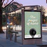 Abri de bus en plein air, publicité Arrêt de bus avec écran à LED