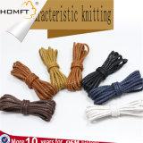 Buenas ventas Shoelace utiliza poliéster trenzado de cuerda encerada
