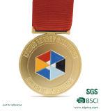 転送によって印刷される締縄が付いている切り取られたロゴのエナメル連続したメダル