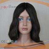 Peluca superior de seda de las mujeres del pelo de la Virgen (PPG-l-0523)