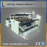 Máquina horizontal el rebobinar de la película electrónica del blindaje que raja