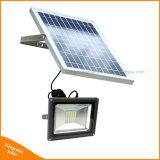 Lámpara solar del césped de la pared del jardín del reflector de 30 LED