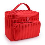Saco de transporte de artigos de higiene de grande capacidade caso cosméticos com suporte de escovas