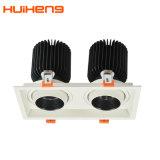 Lumière escamotable en aluminium 30W*2 de gril de Dimmable DEL de bon produit