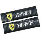 De Koolstof van de Veiligheidsgordel van het Embleem van de auto Behandelt Schouderopvulsels voor Ferrari