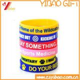 Logotipo personalizado promocional da Pulseira de silicone/Bracelete para jogos de desporto/Parte