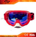 La sicurezza protettiva antipolvere di motocross di ventilazione flessibile di alta qualità TPU strappa fuori gli occhiali di protezione