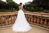 Luva curta que perla o vestido nupcial de vestido de casamento
