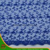 Tela do poliéster do bordado da alta qualidade (HSKDM-1701)