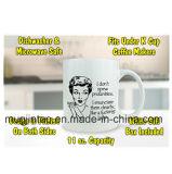stile delle donne di marchio della decalcomania della tazza di caffè della porcellana 11oz