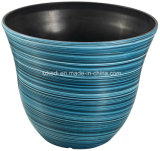 螺線形パターンプラスチック植木鉢(KD9142K)