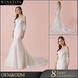 新しいモデルの優雅な象牙Mermaid Wedding 服