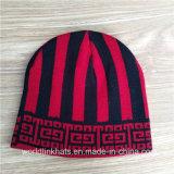 Alta qualidade personalizada de tricotar variegada Beanie Hat com padrão