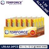 accumulatore alcalino asciutto primario 1.5volt con Ce/ISO 24PCS/Box (LR6/AM-3/AA)