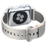 Qualidade de tecido unissexo 22mm cinza de Nylon Assista tirante com Estrutura Protetora para Iwatch