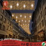 luz do motivo do diodo emissor de luz do Natal da decoração do feriado de 4*3m com corda para a rua
