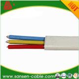 Изолированный PVC кабель сердечника 1.5mm 2.5mm 4mm 6mm BVVB 2 плоский