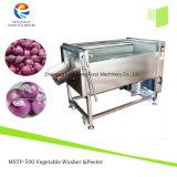 Automatische Bürstenzwiebelen-Haut-Schale und Peeler-Maschine, Zwiebelen-/Wurzelgemüse-Schalen-Maschine