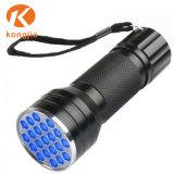 Оптовая торговля ультрафиолетовой лампой Blacklight портативный 21 светодиодный светильник УФ фонарик с питанием от батареи AAA